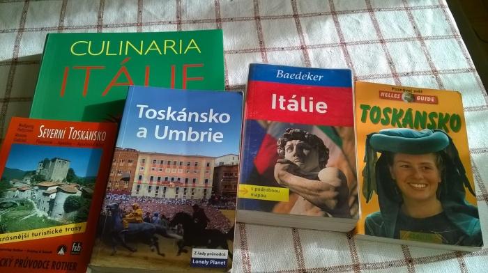 knižní průvodci po Toskánsku