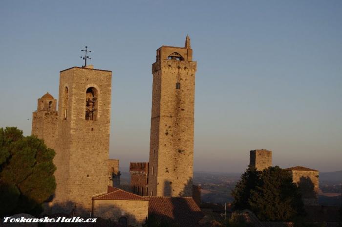 rodové věže v San Gimignanu