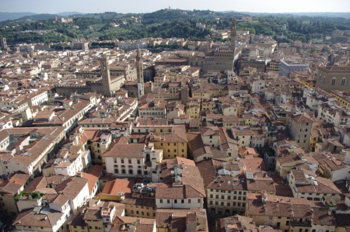 Florencie pohled z kopule bazilky